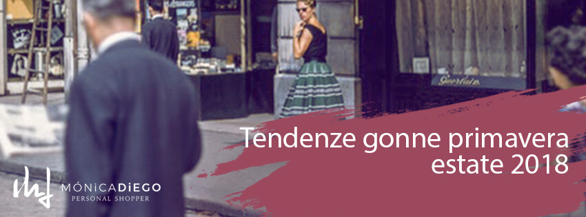 Tendenze gonne primavera estate 2018