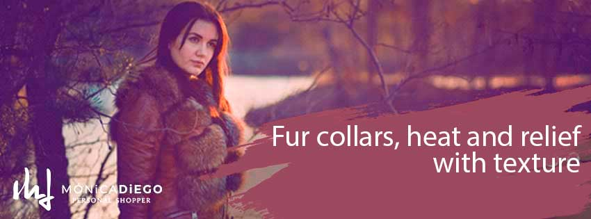 Fur collars, heat and relief with texture