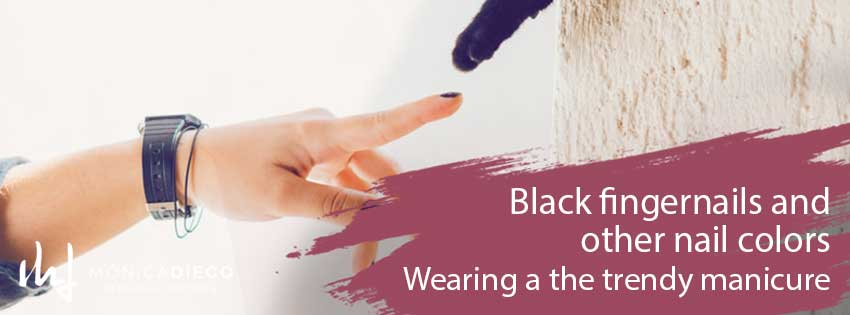 Black fingernails and other nail colors -Wearing a the trendy manicure