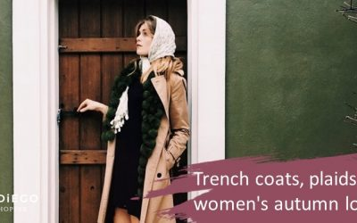 Trench or gabardine and scarves, elegant women's look for fall